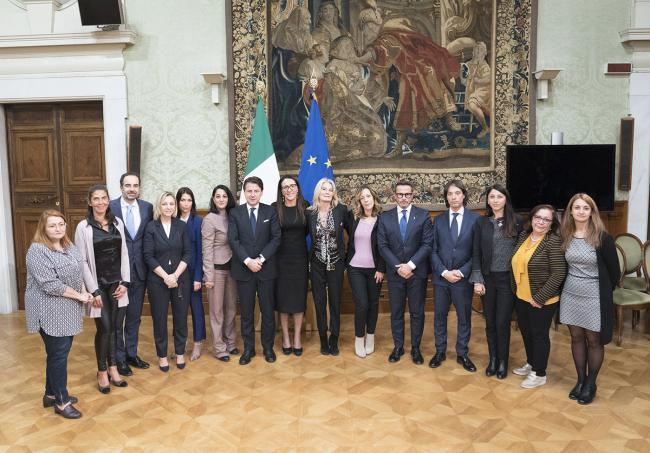Il Presidente Conte incontra i parlamentari della Commissione di inchiesta sul femminicidio