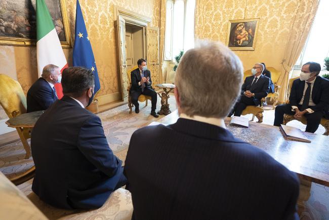 Conte riceve delegazione Fipe-Confcommercio