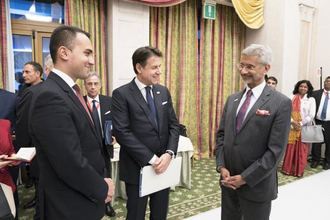 Il Presidente Conte e il Ministro Di Maio al Rome MED 2019