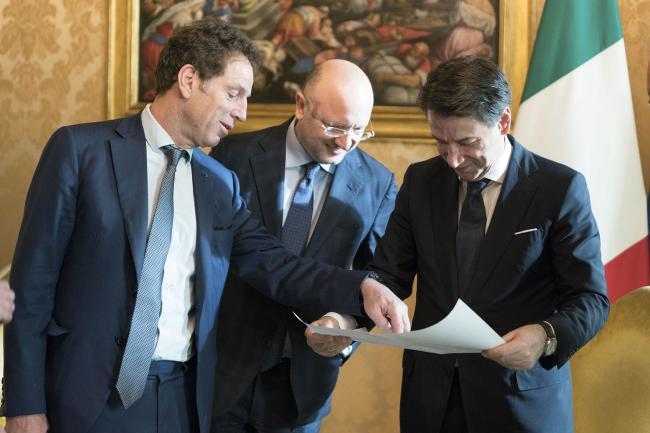 Conte incontra i Presidenti di Confindustria Italia, Francia e Germania