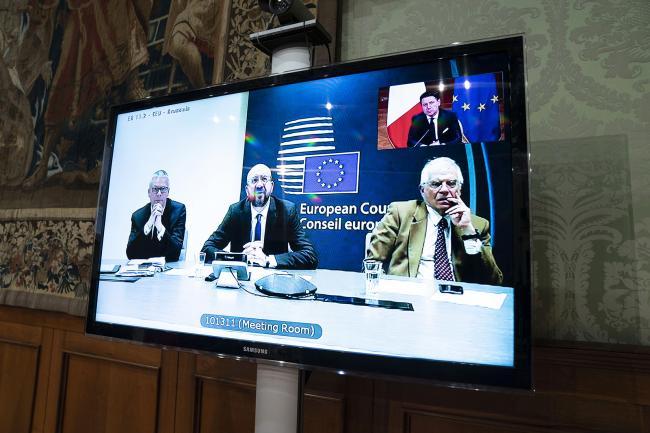 Videoconferenza del Presidente Conte con i leader europei