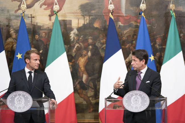 Dichiarazioni alla stampa Conte - Macron