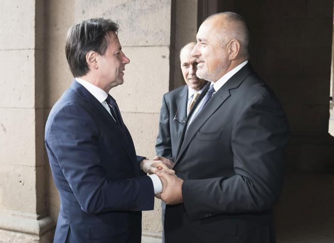 Conte incontra Borissov a Sofia