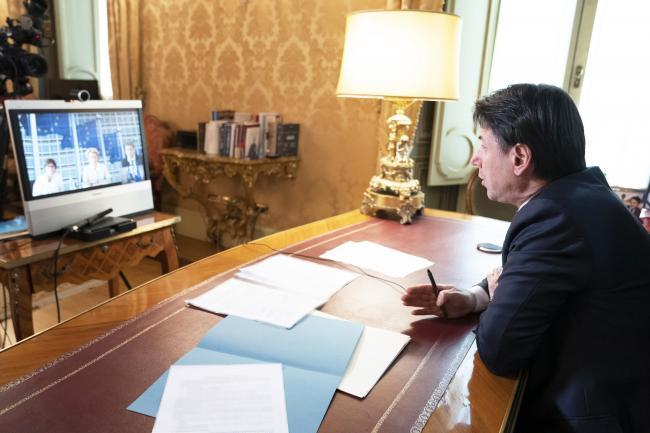 Videoconferenza Conte - von der Leyen