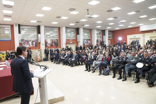 Il Presidente Conte a Gioia Tauro alla presentazione del Piano per il sud