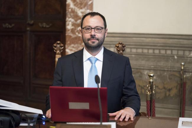 Il Ministro dello Sviluppo Economico, Stefano Patuanelli