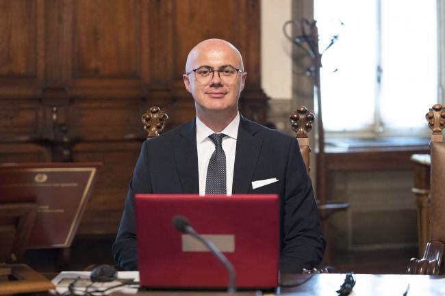 Il Ministro per i Rapporti con il Parlamento, Federico D'Incà