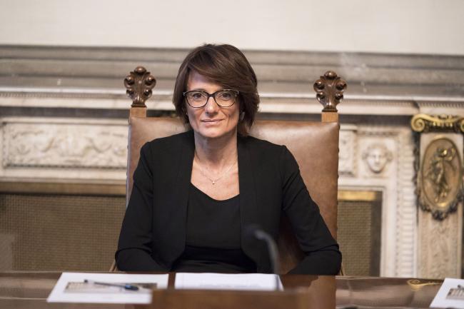 Il Ministro per le Pari Opportunità e la Famiglia, Elena Bonetti