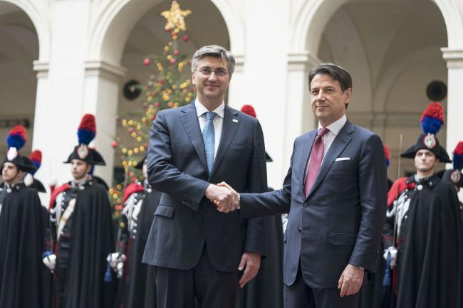 Conte incontra il Primo Ministro della Repubblica di Croazia