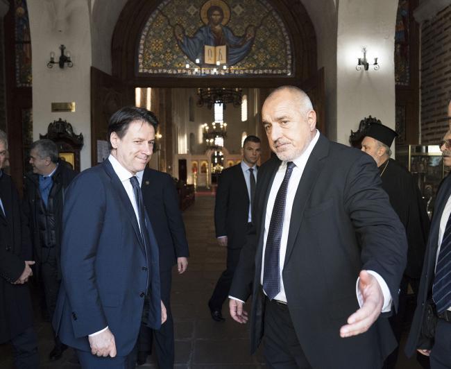 Conte in visita alla Basilica di Santa Sofia