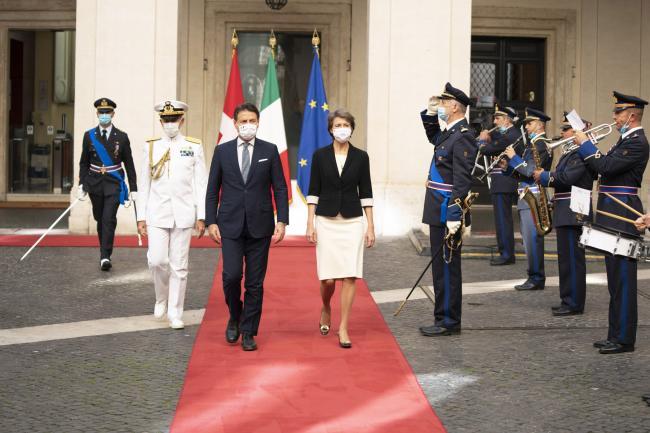 Conte incontra la Presidente della Confederazione svizzera