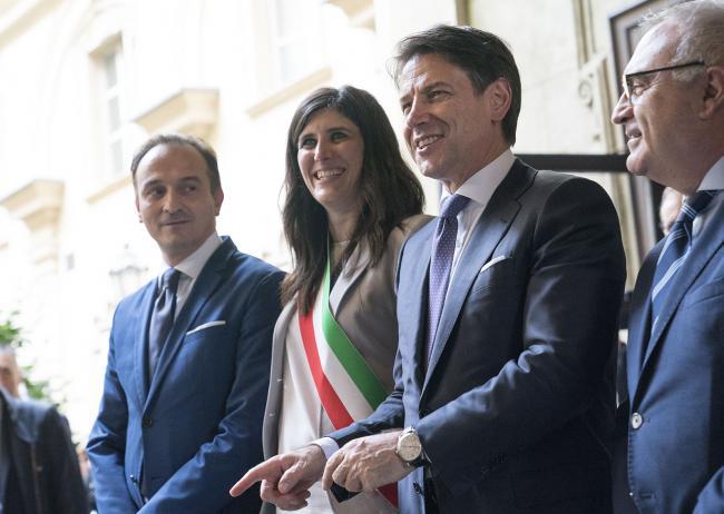 Conte con il Sindaco di Torino Appendino presso il Palazzo Civico