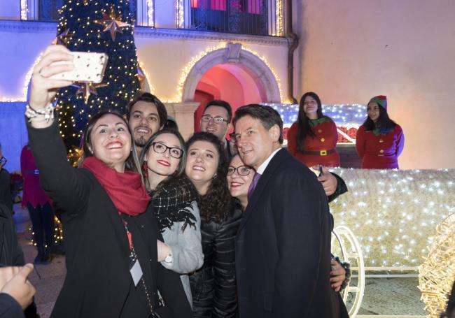 Il Presidente Conte a Candela