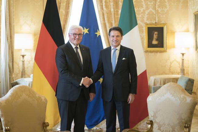 Conte incontra Steinmeier
