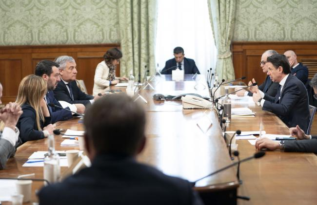 Il Presidente Conte incontra i rappresentanti delle forze di opposizione