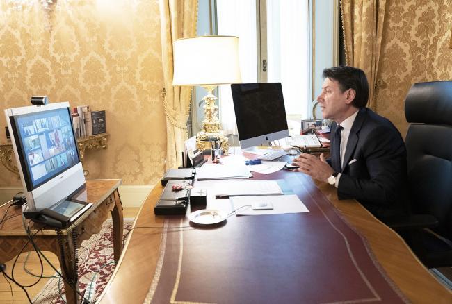 Il Presidente Conte partecipa alla riunione del Consiglio europeo