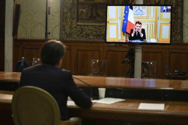 Videoconferenza Conte - Macron