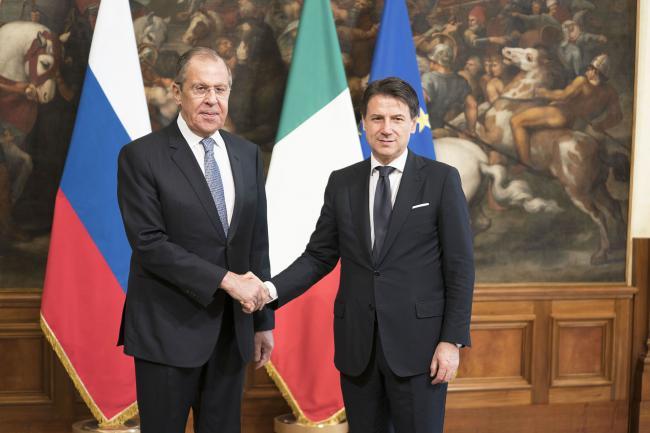 Conte incontra il Ministro degli Affari Esteri della Federazione Russa