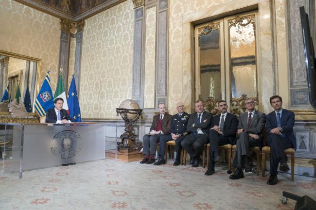 Il Presidente Conte in collegamento con l'astronauta Luca Parmitano