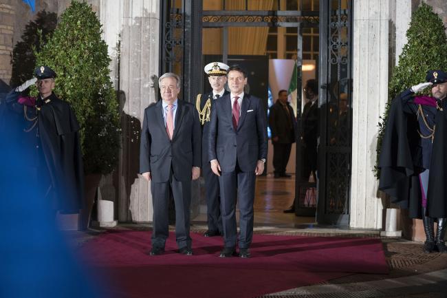 Il Presidente Conte incontra il Segretario Generale Onu Guterres
