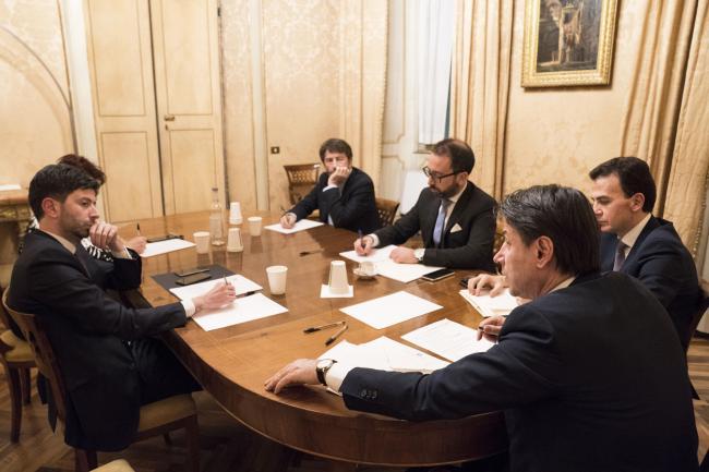 Governo, riunione a Palazzo Chigi con le forze di maggioranza
