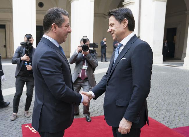Il Presidente Conte incontra Masrour Barzani