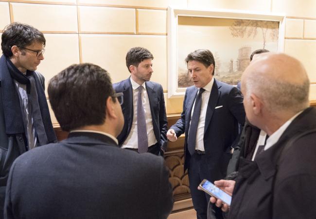 Coronavirus, conferenza stampa del Presidente Conte e del Ministro Speranza