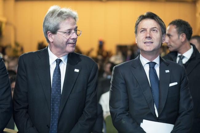 Il Presidente Conte e il Commissario Gentiloni al Rome MED 2019