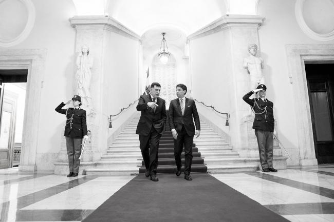 Il Presidente Conte incontra Fayez al Serraj