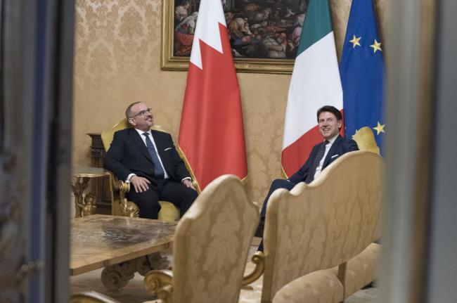 Conte incontra il Principe Ereditario del Regno del Bahrein