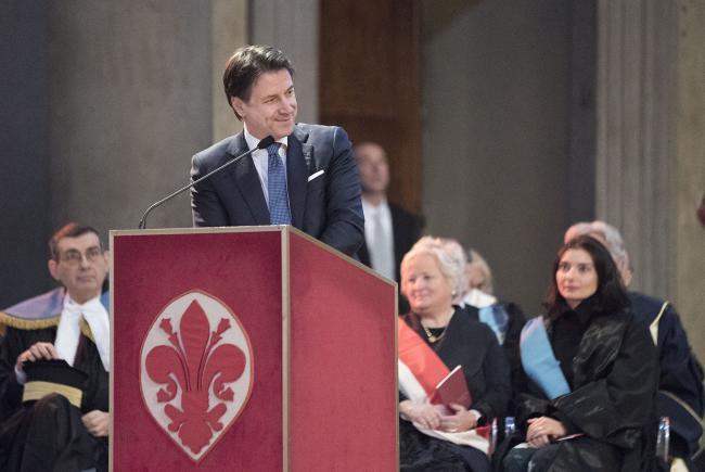 Conte all'inaugurazione dell'anno accademico 2019-2020 dell'Università di Firenze
