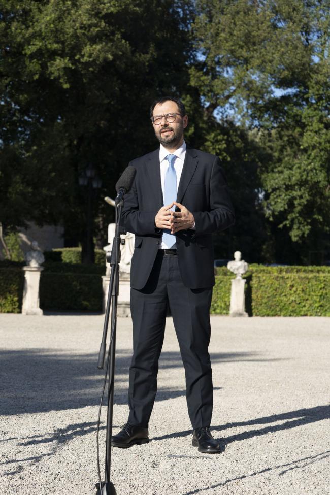 Progettiamo il Rilancio, il Ministro Patuanelli durante il punto stampa
