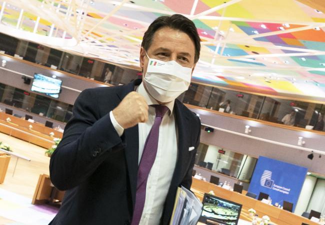 Il Presidente Conte al termine del Consiglio europeo straordinario