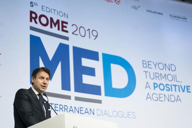Il Presidente Conte interviene al Rome MED 2019