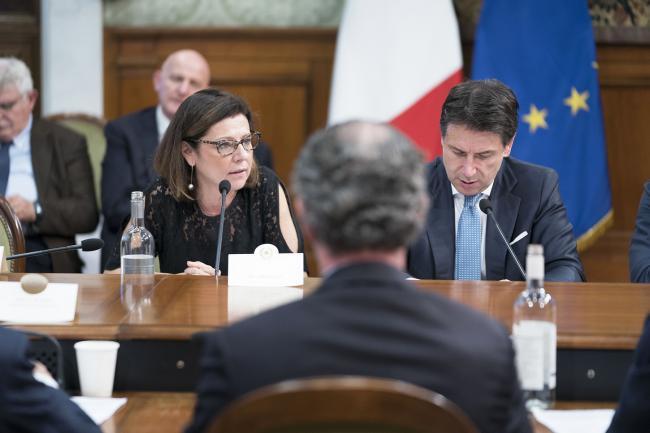 Conte presiede la riunione del Comitato interministeriale su Venezia