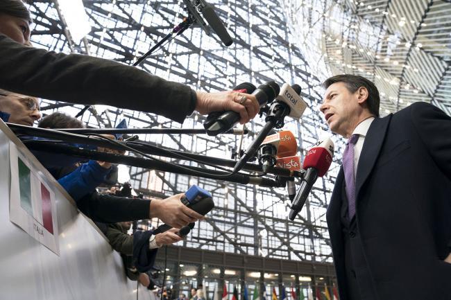 Bruxelles, punto stampa del Presidente Conte