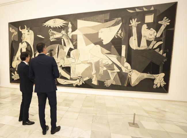 Il Presidente Conte e il Presidente Sánchez al Museo Nazionale Reina Sofia