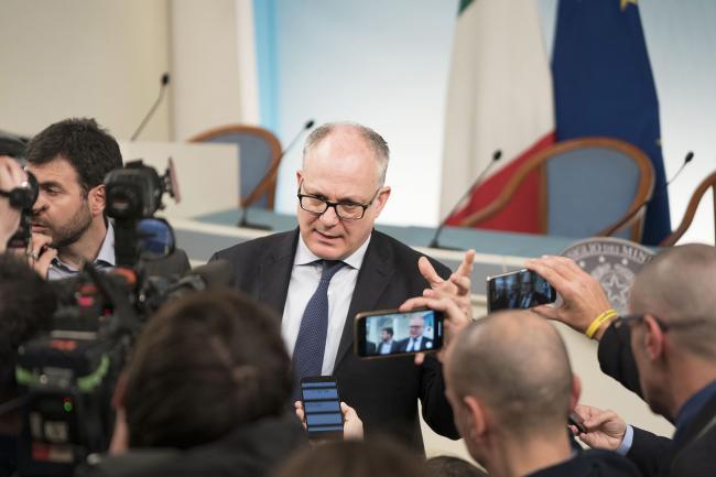 Consiglio dei Ministri n. 33, il Ministro Gualtieri in sala stampa