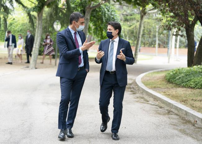 Incontro bilaterale Conte - Sánchez