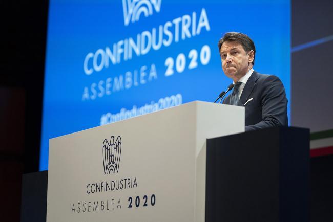 Il Presidente Conte all'Assemblea di Confindustria