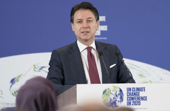 Conte interviene all'evento di lancio della COP26