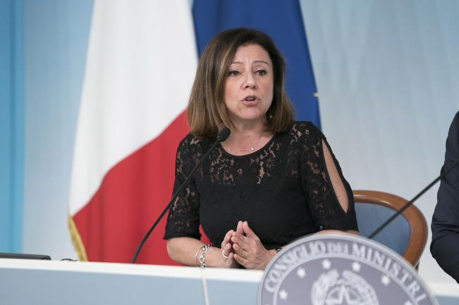 Maltempo, il Ministro De Micheli in conferenza stampa a Palazzo Chigi