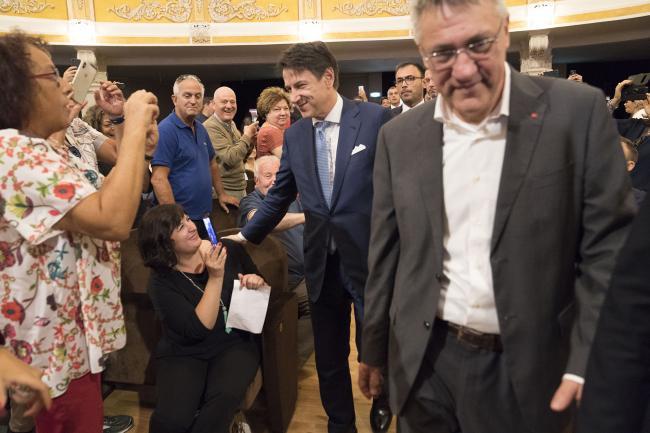 """""""Giornate del Lavoro 2019"""", il Presidente Conte con il Segretario generale CGIL Landini"""
