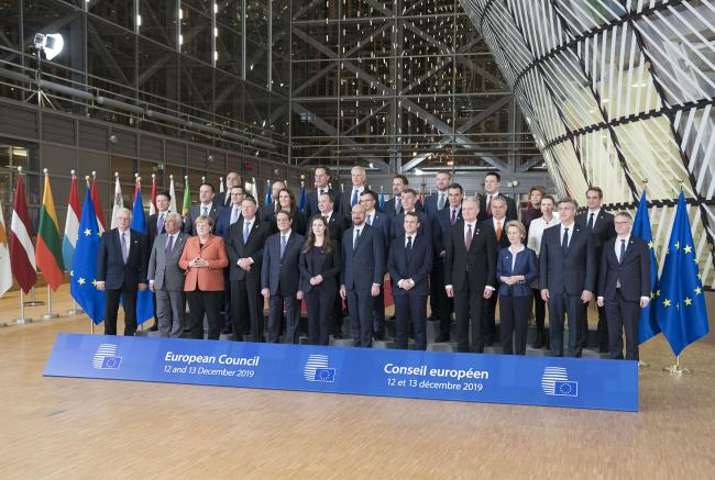 Consiglio europeo, foto di famiglia dei Leader