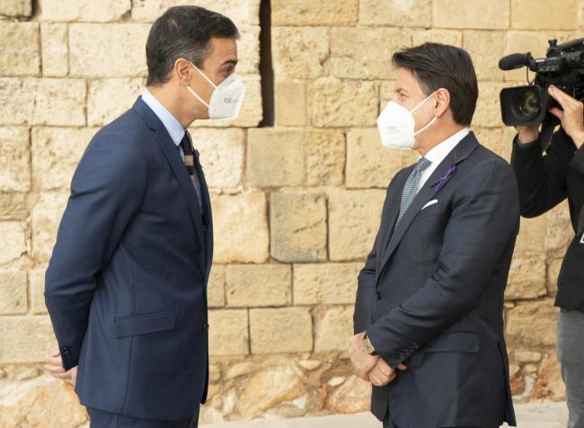 XIX Vertice intergovernativo italo-spagnolo, l'arrivo del Presidente Conte a Palazzo Almudaina