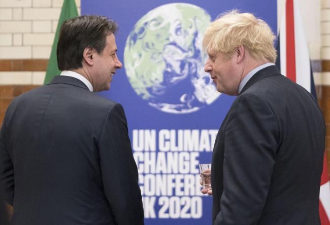 Conte con il Primo Ministro del Regno Unito Johnson