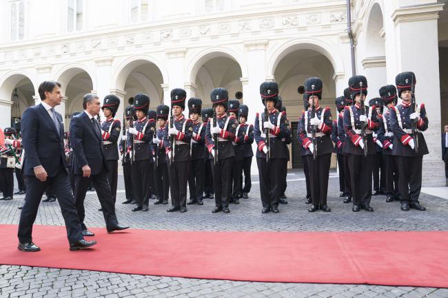 Il Presidente Conte incontra Gurbanguly Berdimuhammedow