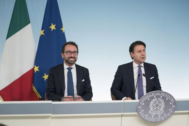 Consiglio dei Ministri n. 29, il Presidente Conte e il Ministro Bonafede in conferenza stampa