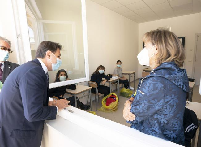 """Il Presidente Conte all'Istituto """"Roberto Battaglia"""""""