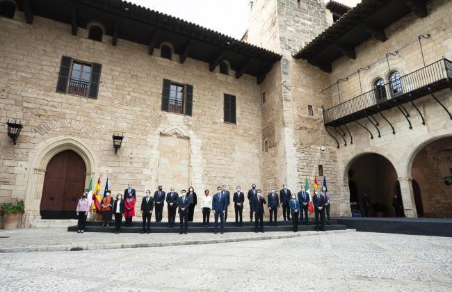 XIX Vertice intergovernativo italo-spagnolo, la foto di famiglia